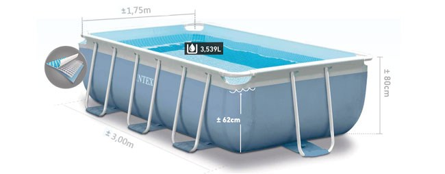 Formaten Intex prism frame pool