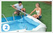 Intex ultra Frame Pool opzetten stap 2