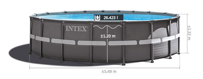 Intex ultra frame pool 549 afmetingen