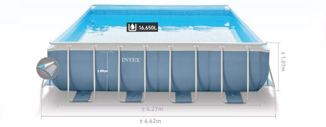 Formaten Intex prism frame pool 427